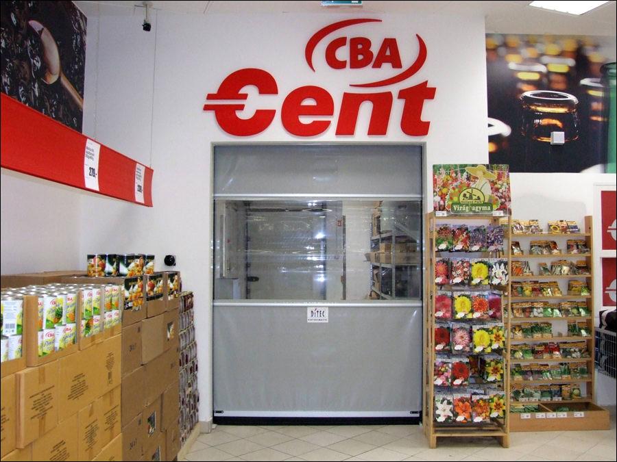 Ipari gyorskapu a CBA csepeli áruházában